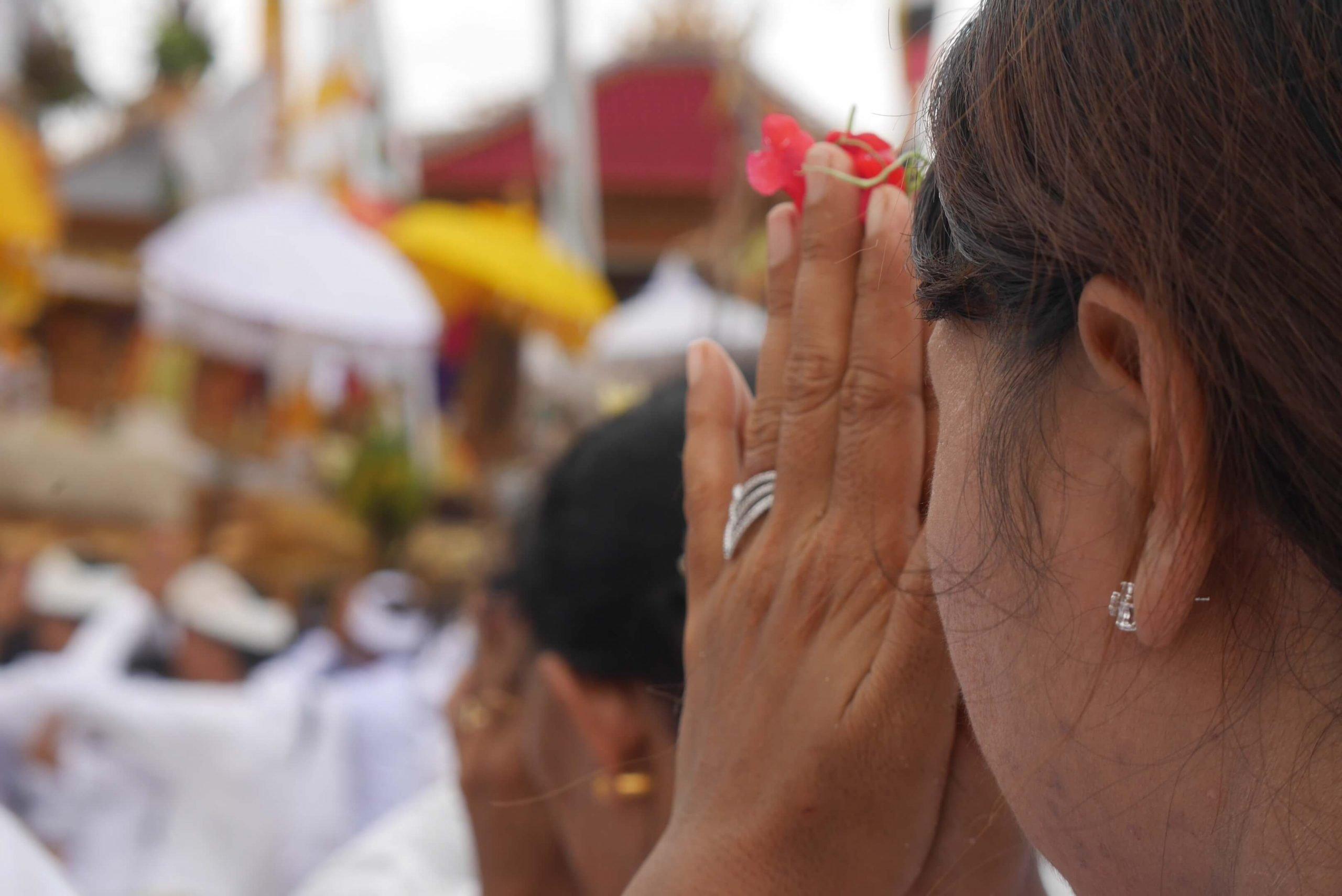 Melasti Ceremony prière